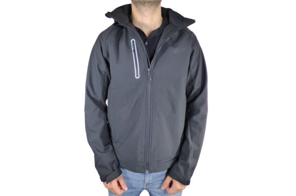 Mens Black Softshell Jacket-0