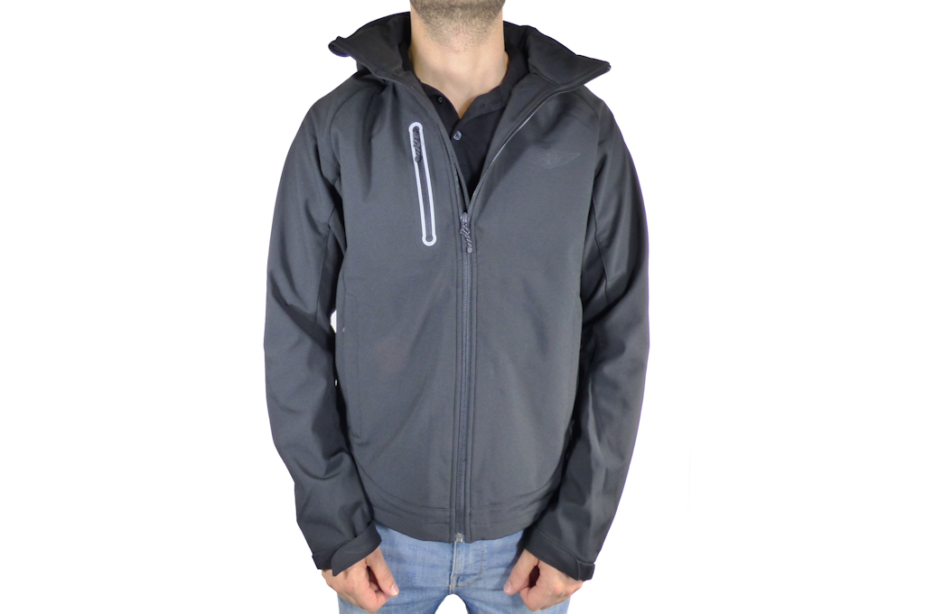 Mens Black Softshell Jacket-0