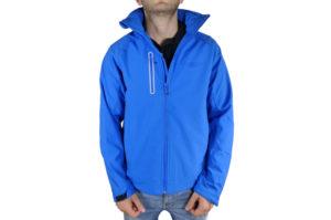 Mens Blue Softshell Jacket-0
