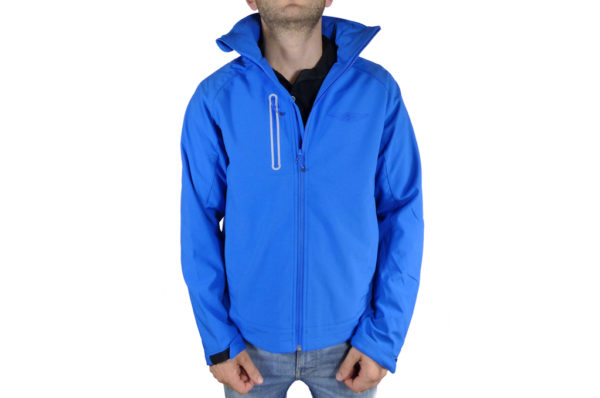 Mens Blue Softshell Jacket-0