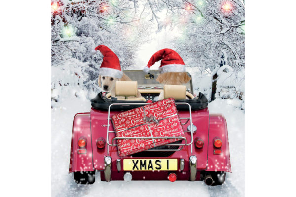 Christmas Greetings Card - Driving Home for Christmas-0