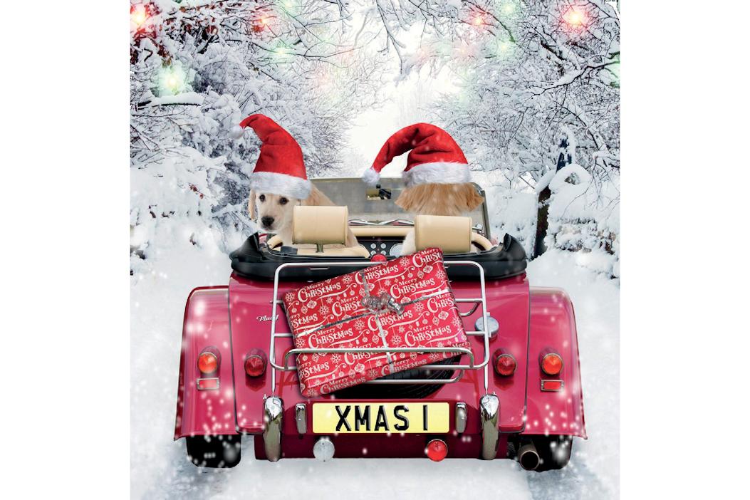 Christmas Greetings Card - Driving Home for Christmas-0