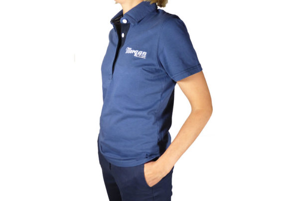 Ladies Vintage Blue Polo Shirt-3037