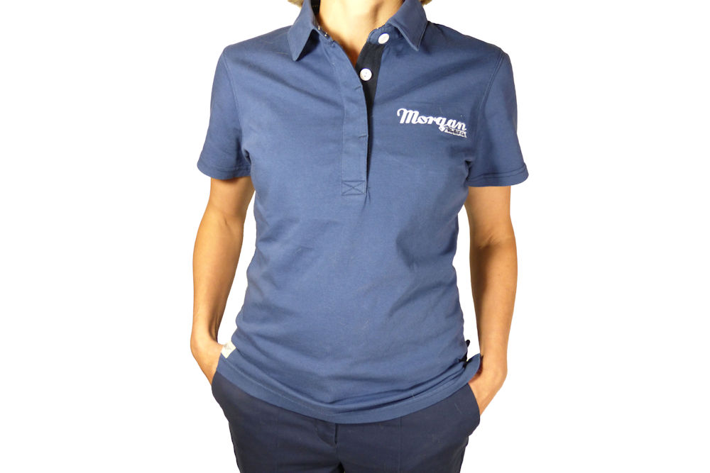 Ladies Vintage Blue Polo Shirt-0