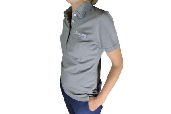 Ladies Grey Vintage Polo Shirt-3101