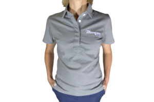 Ladies Grey Vintage Polo Shirt-0