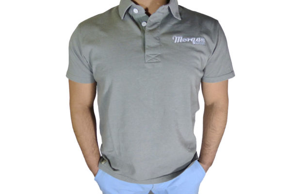 Mens Grey Vintage Polo Shirt-0
