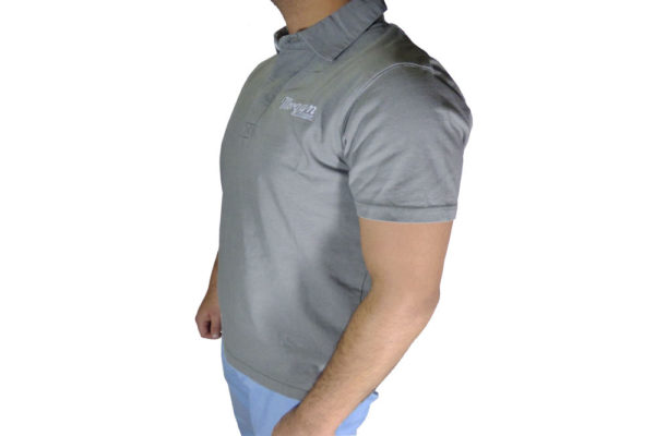 Mens Grey Vintage Polo Shirt-3028