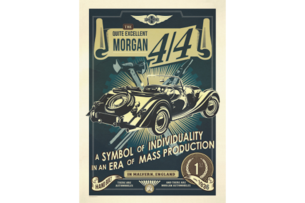 Morgan 4/4 Poster - Symbol of Individuality-0