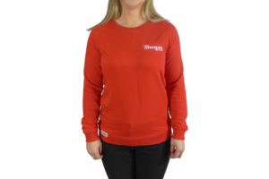 Ladies Red Sweat Top with Morgan Embroidery -0