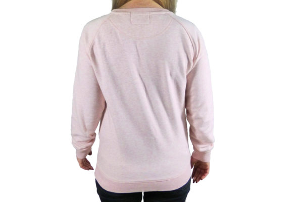 Ladies Heather Pink Sweat Top with Morgan Embroidery -3414