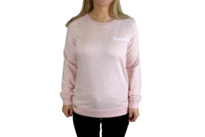 Ladies Heather Pink Sweat Top with Morgan Embroidery -0