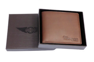 Men's Leather Billfold Wallet With Coin Pocket - Brown-0