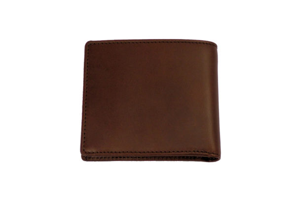 Men's Leather Billfold Wallet With Coin Pocket - Brown-3591