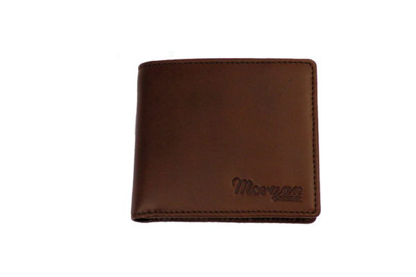 Men's Leather Billfold Wallet With Coin Pocket - Brown-3589