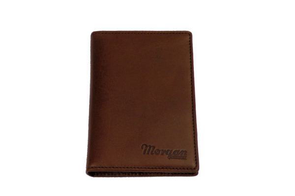 Leather Passport Holder with Card Pockets - Brown-3587