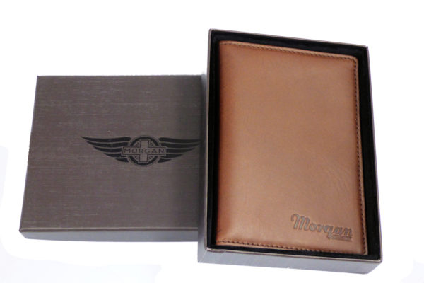 Leather Passport Holder with Card Pockets - Brown-0