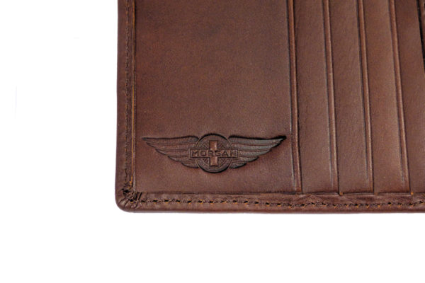 Leather Passport Holder with Card Pockets - Brown-3585