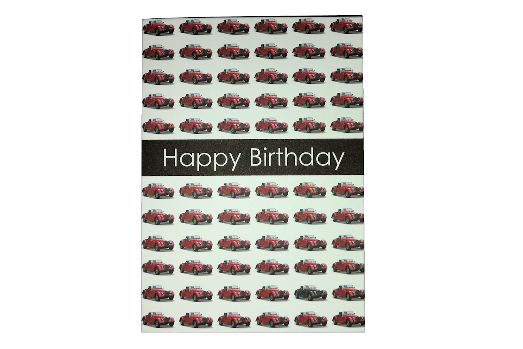 Morgan Greetings Card - Happy Birthday - Red Cars-0