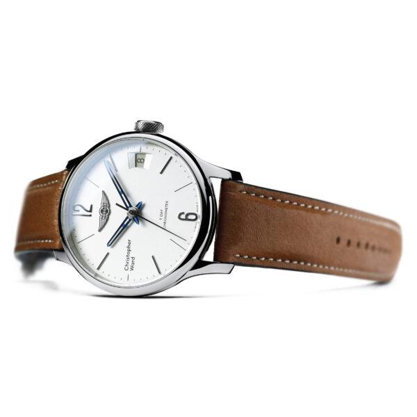 C1 Morgan Classic Chronometer Camel/Blue Piccari Leather-3676