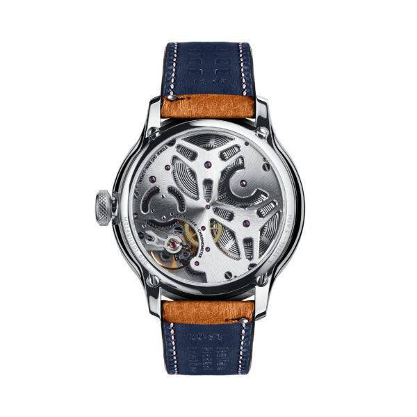 C1 Morgan Classic Chronometer Camel/Blue Piccari Leather-3677