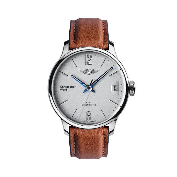 C1 Morgan Classic Chronometer Camel/Blue Piccari Leather-0