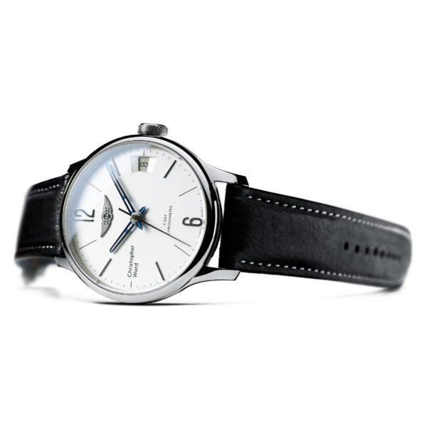 C1 Morgan Classic Chronometer Black/Blue Piccari Leather-3691