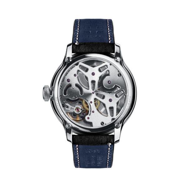 C1 Morgan Classic Chronometer Black/Blue Piccari Leather-3690