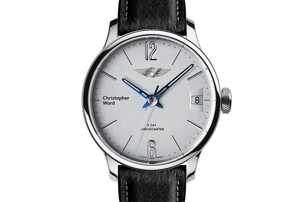 C1 Morgan Classic Chronometer Black/Blue Piccari Leather-0