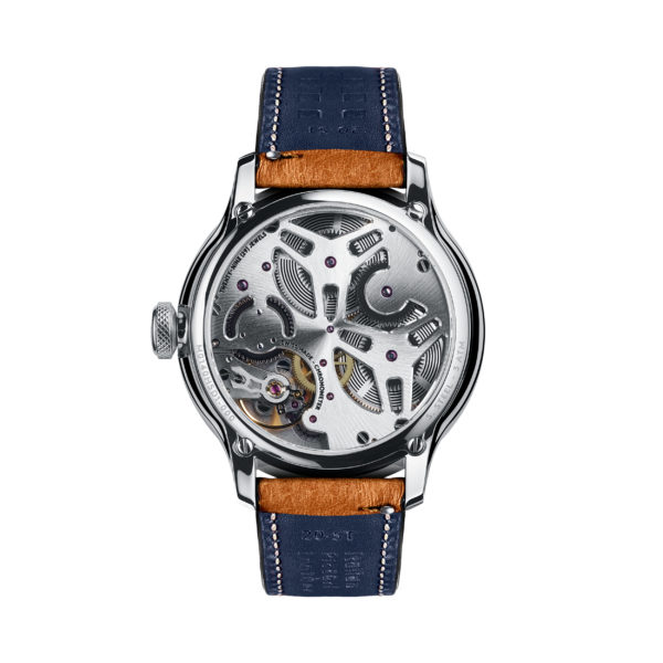 C1 Morgan Classic Chronometer (Traditional Wings) Camel/Blue Piccari Leather-3746