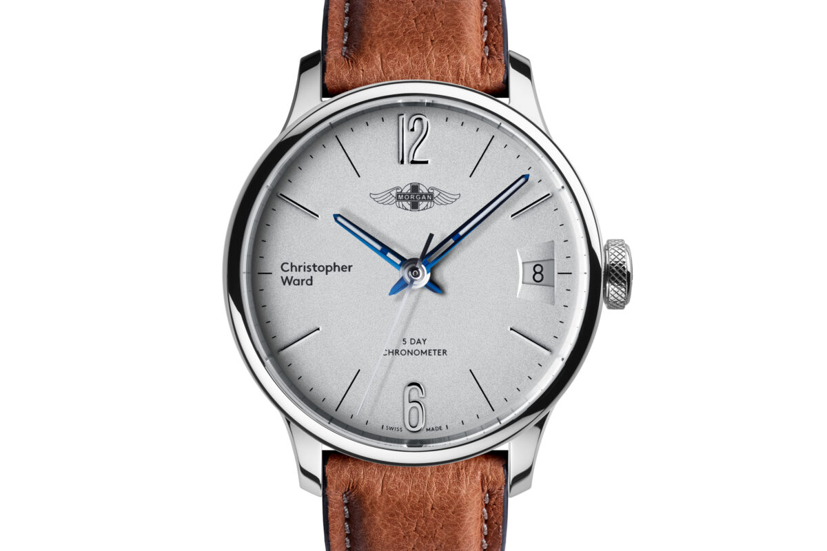 C1 Morgan Classic Chronometer (Traditional Wings) Camel/Blue Piccari Leather-0