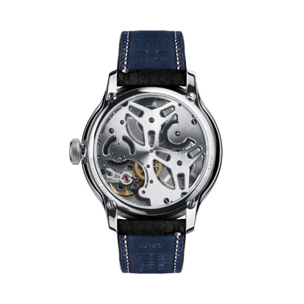 C1 Morgan Classic Chronometer (Traditional Wings) Black/Blue Piccari Leather-3762