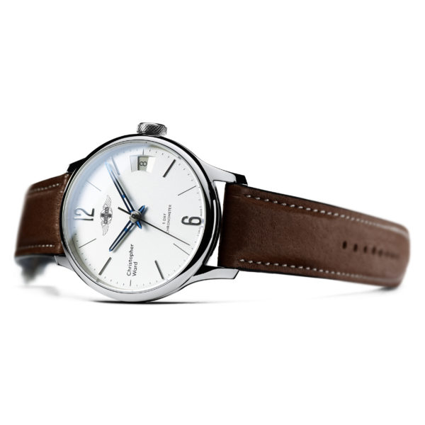 C1 Morgan Classic Chronometer (Traditional Wings) Brown/Blue Piccari Leather-3756