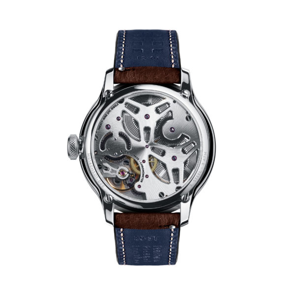 C1 Morgan Classic Chronometer (Traditional Wings) Brown/Blue Piccari Leather-3754