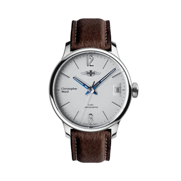C1 Morgan Classic Chronometer (Traditional Wings) Brown/Blue Piccari Leather-0
