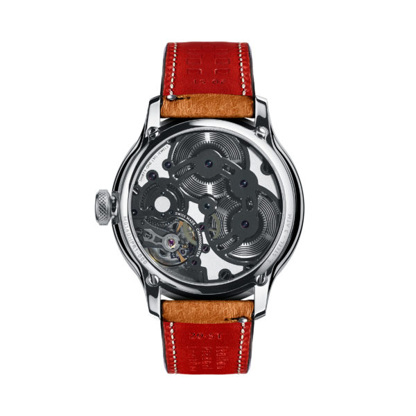 C1 Morgan Aero 8 Chronometer Camel/Red Piccari Leather-3722