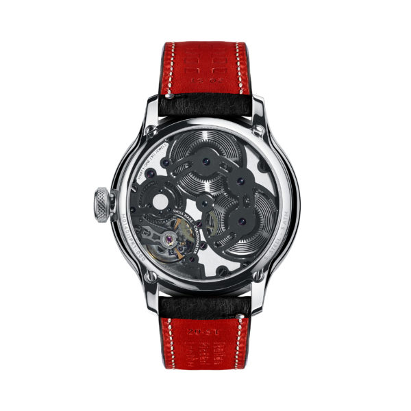 C1 Morgan Aero 8 Chronometer Black/Red Piccari Leather-3740