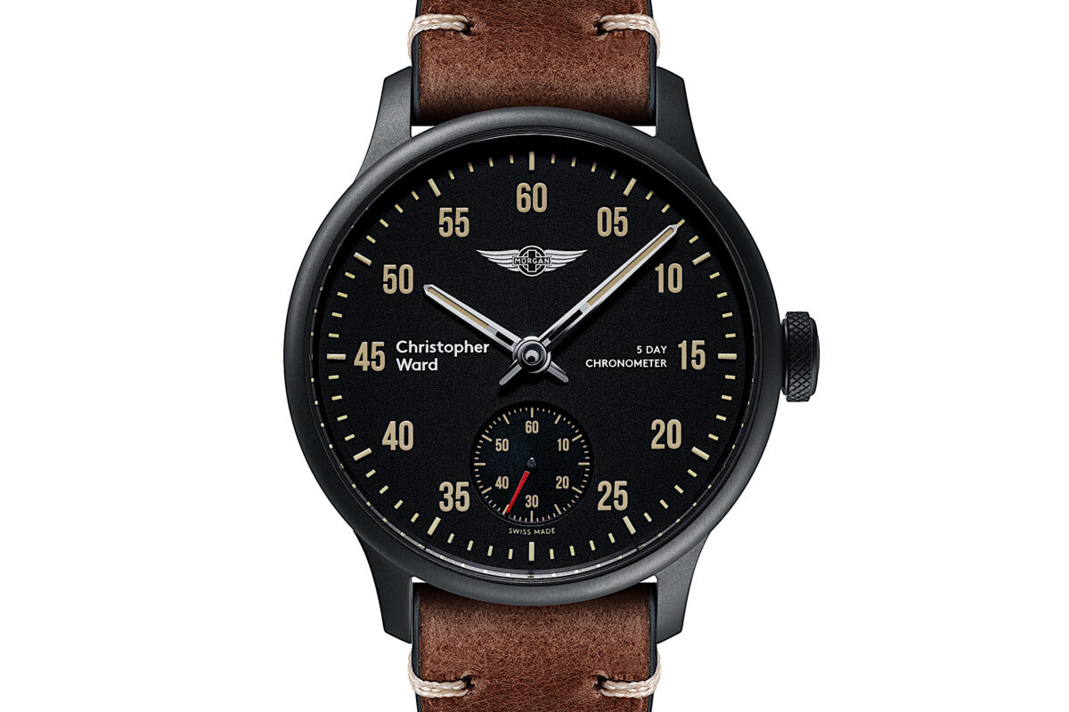 C1 Morgan 3 Wheeler Chronometer Brown Tiber Leather-0