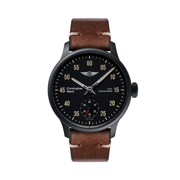 C1 Morgan 3 Wheeler Chronometer Brown Tiber Leather-0
