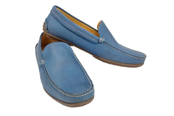 Morgan Sporting Driving Shoe - Sky Blue-0