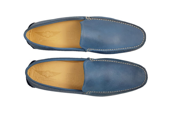 Morgan Sporting Driving Shoe - Sky Blue-3665
