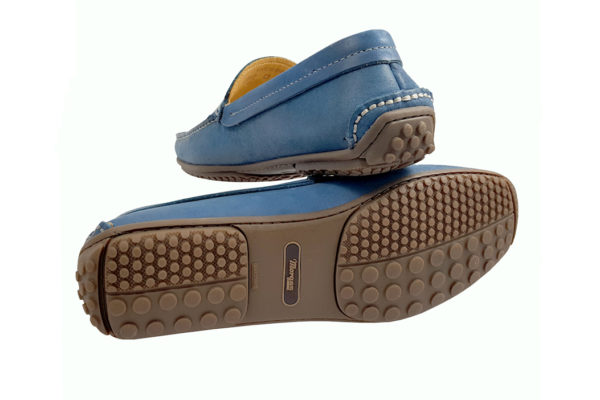 Morgan Sporting Driving Shoe - Sky Blue-3664