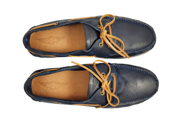 Morgan Vintage Touring Shoe - Navy-3657