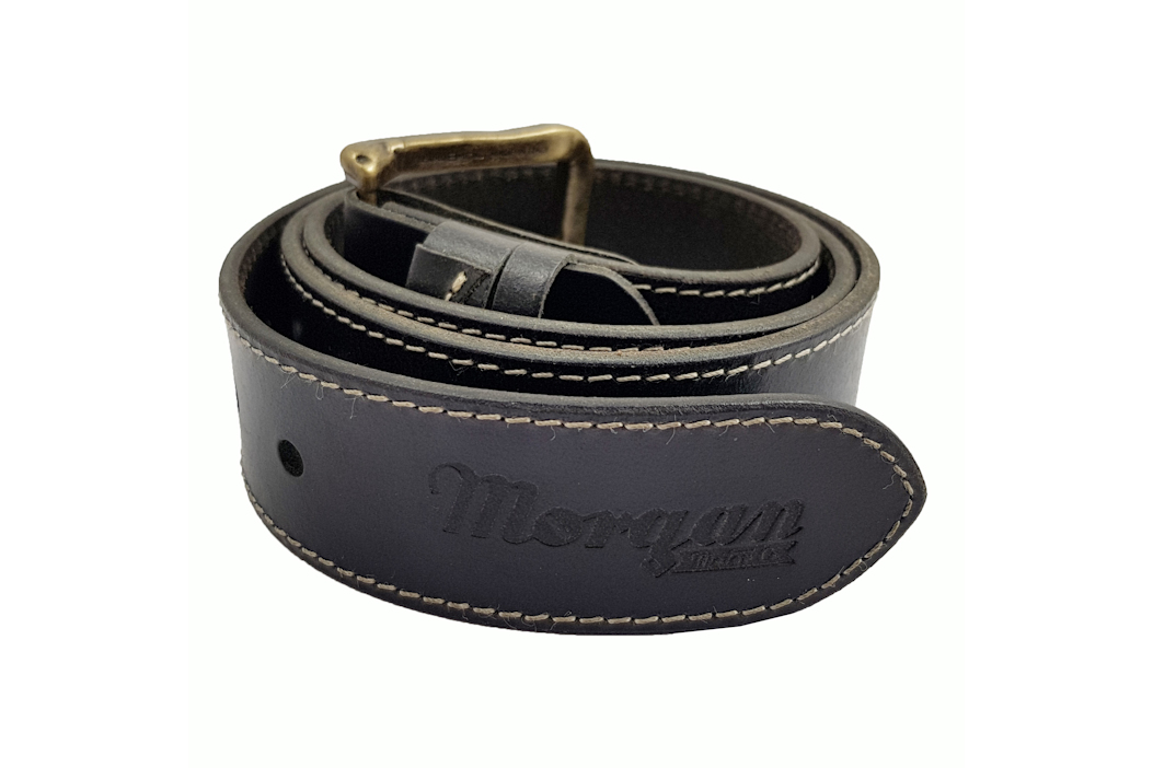 Morgan Mens Raw Hide Belt - Black-0