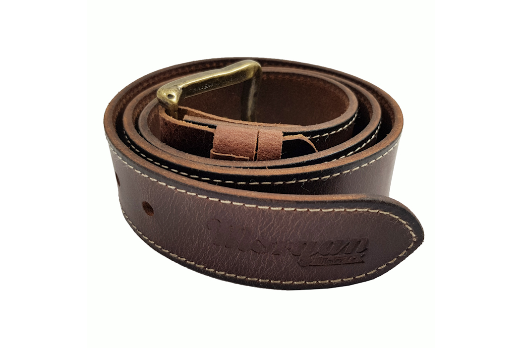 Morgan Mens Raw Hide Belt - Brown-0