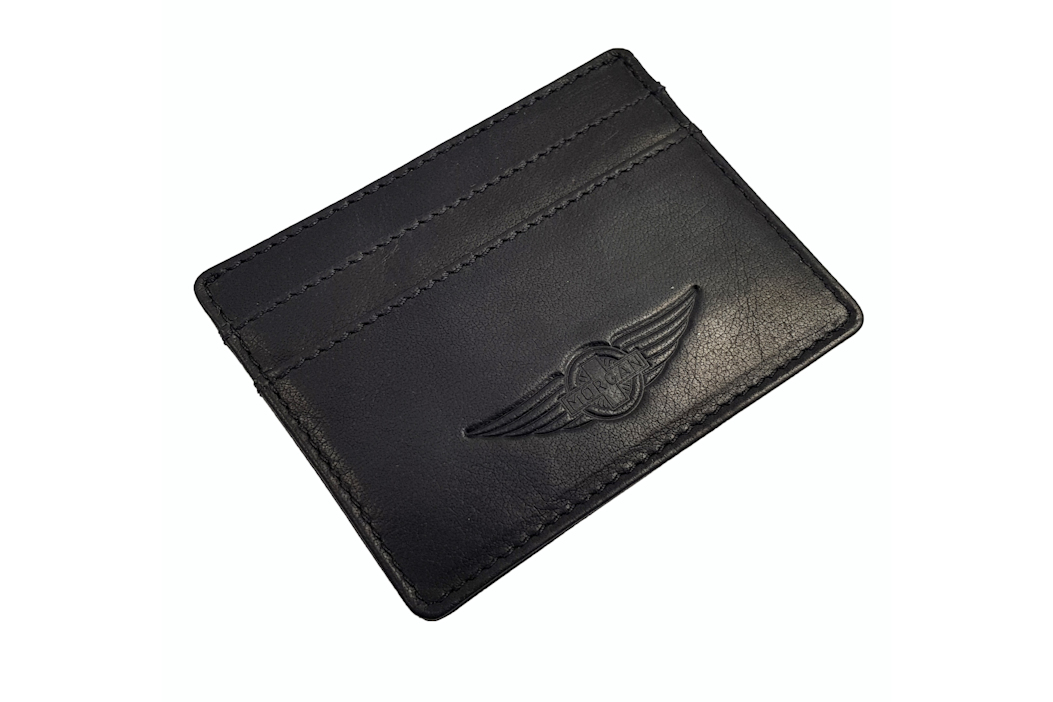 Morgan Leather Credit Card Holder - Black-0