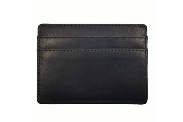 Morgan Leather Credit Card Holder - Black-3779