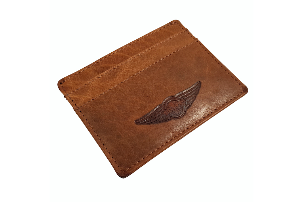 Morgan Leather Credit Card Holder - Brown-0