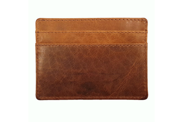 Morgan Leather Credit Card Holder - Brown-3775