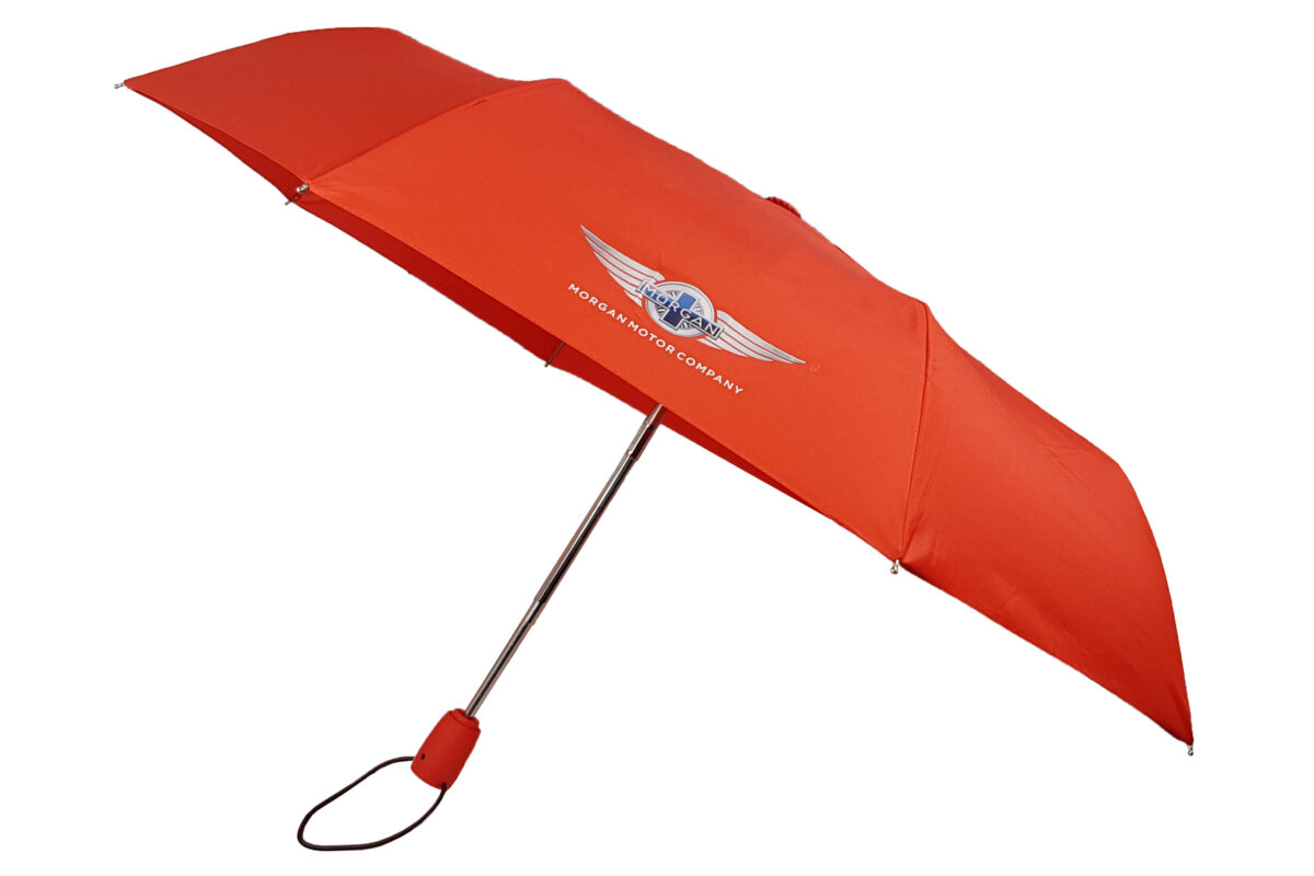 "Morgan Red Telescopic Umbrella with ""Wings"" Logo-0"